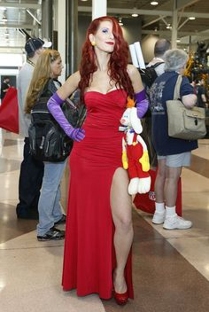 Jessica Rabbit costume - if I could magically fit in my prom dress again this could be an awesome costume!