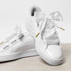 bf5a65e960e Puma Basket Heart, Sport Fashion, Womens Fashion, Jeans, Shoes Photo, Sock