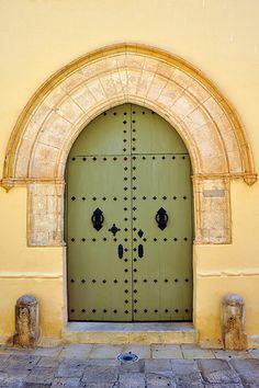 Medieval doorway in #Mdina, Malta