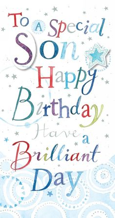 Ling Design Son Happy Birthday Card Man Husband Quotes