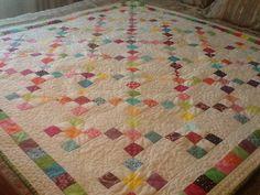 Modern Twist on a traditional Irish Chain quilt