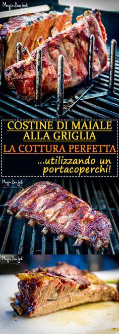 Come cucinare alla perfezione le costine di maiale alla griglia con l'aiuto di un portacoperchi economico.
