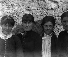 The O'Halloran girls, Bodyke, Co.Clare by National Library of Ireland on The Commons, via Flickr Click through to read an incredible story behind this photograph.