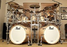 wow...Pearl Masters Birch double bass kit