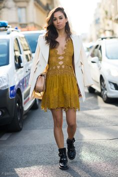 Spring Street Style, dress by CHLOE