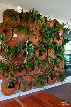 Pintar una pared con las plantas