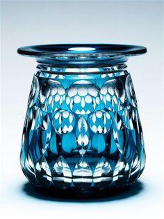 "CUT GLASS VAL ST LAMBERT ""YEZZO"" VASE, Belgium, circa 1930 | London | Mallett Antiques"