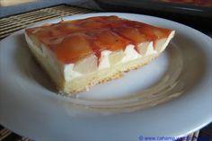 Nashi-Käse-Kuchen (Blechkuchen)