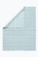 Ellos Home Matta Tingsryd 150x250 cm Turkosgrön/vit, Blå/vit, Svart/vit, Dimblå/vit, Gul - Plastmattor   Ellos Mobile