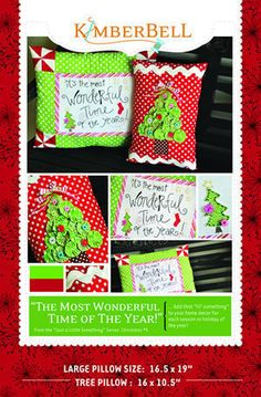 The Most Wonderful Time of the Year - Christmas Pillow Set