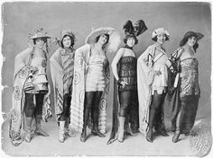 original 1921 Shuffle Along cast. Adelaide Hall on the far left.