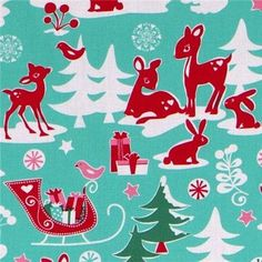 love this Christmas fabric