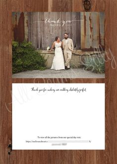 Script Overlay Thank you card / Wedding Thank you by AllSeamsSilly