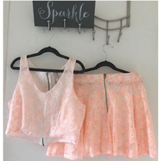 Cute and bright crop top w/ marching skirt Top & Skirt Paper Crane Other