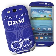 Personalised Blue Crown Samsung Galaxy S3 Phone Skin  from Personalised Gifts Shop - ONLY £7.95