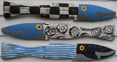 Midnight Blue Heaven Fence Fish S/3: Beach Decor, Coastal Home Decor, Nautical Decor, Tropical Island Decor & Beach Cottage Furnishings
