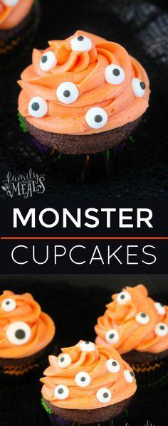 Easy Monster Cupcakes - familyfreshmeals.com