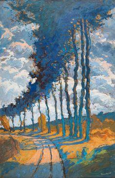 Eugene Bruillard - Arbres en Bordure d'un Chemin
