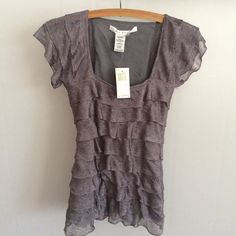 Grey Layered Blouse Grey layered blouse. New with tags, from smoke free home. Max Studio Tops Blouses