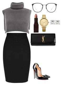 """Untitled #135"" by amoney-1 ❤ liked on Polyvore featuring Christian Louboutin, Yves Saint Laurent, Laura Mercier, Linda Farrow, Oasis and Givenchy"