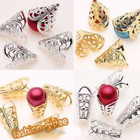 25/50PCS Gold Silver Plated Charm Cone Filigree Hollow Flower Bead End Caps 16mm