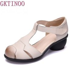 Middle Heels : Spring Women Flats Shoes Flat Platform Slip on … – İdeas Pics Leather High Heels, Leather Sandals, Casual Confortable, Womens Summer Shoes, Handmade Leather Shoes, Womens Slippers, Woman Shoes, Leather Fashion, Summer Sandals