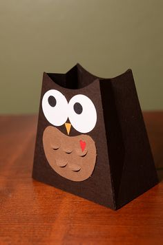 Owl valentine treat box