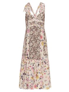 Rebecca Taylor Sleeveless floral-print silk dress