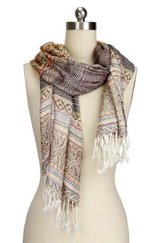 Aztec Printed Scarf - More Color Options