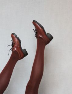Brown leather waterproof shoes size 8 38 by founditgreat on Etsy, $25.00