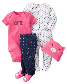 Baby Girl 4-Piece Babysoft Take-Me-Home Set from Carters.com. Shop clothing & accessories from a trusted name in kids, toddlers, and baby clothes.