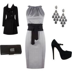 Classy Black and Gray- created by elvia-gonzalez on polyvore.com