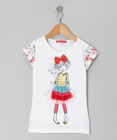 Take a look at this White Strike a Pose Ruffle Tee - Infant, Toddler & Girls by Red Turtle on #zulily today!
