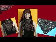 Crochet Shawl, Knit Crochet, Poncho Shawl, Scarves, Youtube, Ruffle Blouse, Knitting, Women, Fashion