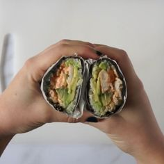sushi burrito will satisfy all of your sushi cravings, but with compliant ingredients! Watch this simple recipe for how to make a paleo, sushi burrito cravings healthy videos Sushi Burrito — mad about food Easy Healthy Recipes, Healthy Cooking, Diet Recipes, Healthy Snacks, Easy Meals, Cooking Recipes, Sushi Recipe Video, Sushi Burrito, Burrito Burrito