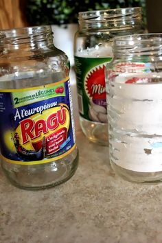 How to remove jar labels easily and without chemicals!