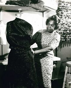 Zelda Wynn Valdes - American Fashion Designer first to own a shop in New York City. She is famous for dressing Dorothy Dandridge and Marian Anderson. She is also famous for designing the original costumes for the Playboy Bunnies and Dance Theater of Harlem.