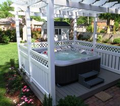 Hot Tub - darker color -- Curated by: Aqua Trends Pool & Spa | #103, 1990 Cooper Rd. Kelowna BC V1Y 8K5 | 250-868-1960