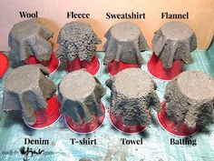 Fabric Tests for Concrete Draping - Made By Barb - cement dipped fibres diycemen. - Concrete pots - Fabric Tests for Concrete Draping – Made By Barb – cement dipped fibres diycementplanters - Cement Art, Concrete Cement, Concrete Crafts, Concrete Casting, Concrete Design, Diy Home Crafts, Garden Crafts, Upcycled Crafts, Decor Crafts