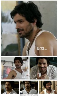 Santigao Cabrera in Covert Affairs. Ok being a big fan of both The Musketeers & CA, I'm ashamed to say I did not even make the connection until I saw it on Tumblr... And yet I knew he was in Merlin and I've never even watched it.. Go figure.