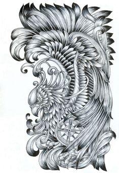 B/g Phoenix Half Sleeve