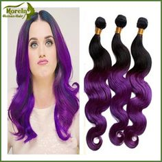 Check out this product on Alibaba.com App:Virgin Brazilian human hair unprocessed material type 2 tone color 1B/ purple body wave bundle https://m.alibaba.com/FVbeMr