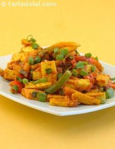 A delicious melange of low fat paneer and low calorie vegetables like baby corn and capsicum.