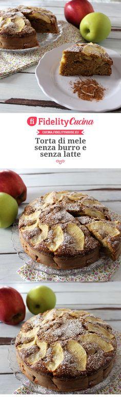 Torta di mele senza burro e senza latte