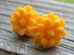 Sunshine sunflower post earrings by lolitarose on Etsy, $5.00