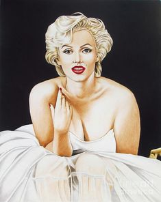 Marilyn In White by Joseph Sonday