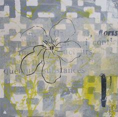 FLOWER  30X30cm Helena Sellergren