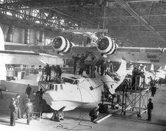 Consolated PBY-5C Catalina Maintenance