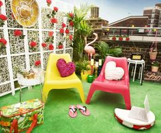 Kids Balcony Decor With Small Chair