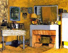 Vuillard's Room at the Château des Clayes (Edouard Vuillard - )